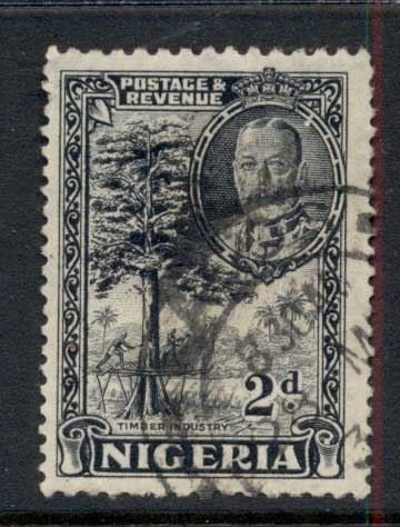 Nigeria 1936 KGV Pictorial 2d Timber FU