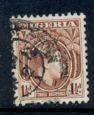 Nigeria 1938-51 KGVI Pictorial 1.5d KGVI Portrait red brown Perf 11.5 MLH