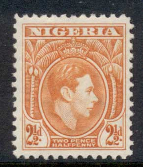 Nigeria 1938-51 KGVI Pictorial 2.5d KGVI Portrait orange MLH