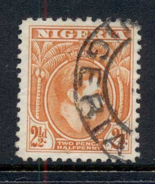 Nigeria 1938-51 KGVI Pictorial 2.5d KGVI Portrait orange FU