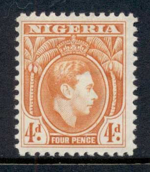 Nigeria 1938-51 KGVI Pictorial 4d KGVI Portrait orange MLH