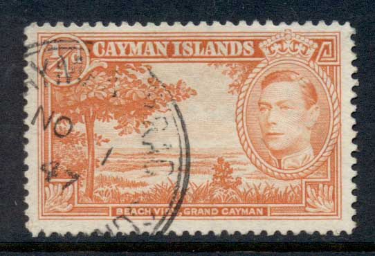 Cayman Is 1938-43 KGVI Pictorial 0.25d beach View Perf 12.5 FU
