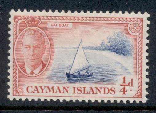Cayman Is 1950 KGVI Pictorial 0.25d Cat Boat MLH