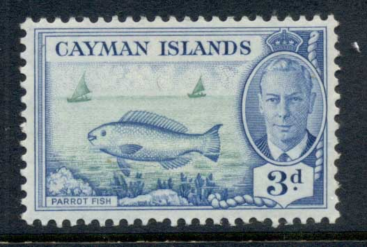 Cayman Is 1950 KGVI Pictorial 3d Parrot Fish MLH