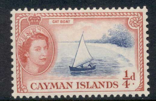 Cayman Is 1953-59 QEII Pictorial 0.25d Cat Boat MUH