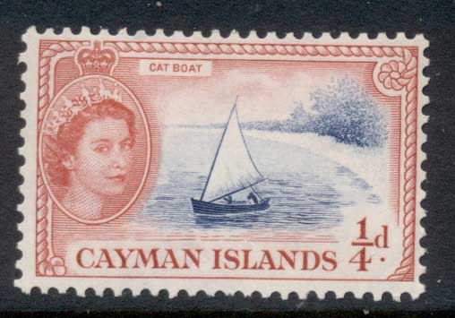 Cayman Is 1953-59 QEII Pictorial 0.25d Cat Boat MLH