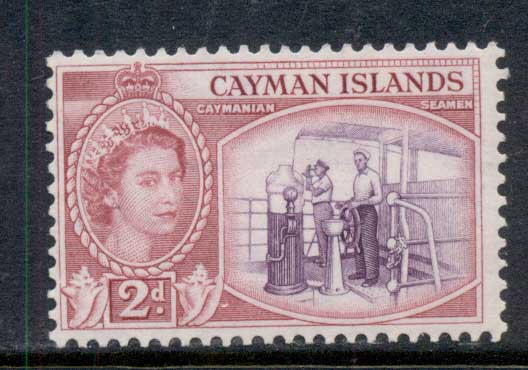 Cayman Is 1953-59 QEII Pictorial 2d Caymanian Seamen MLH