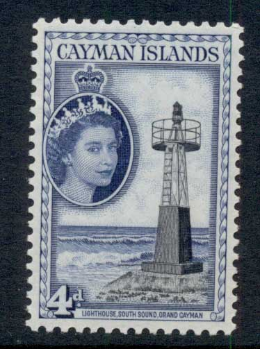 Cayman Is 1953-59 QEII Pictorial 4d Lighthouse MUH
