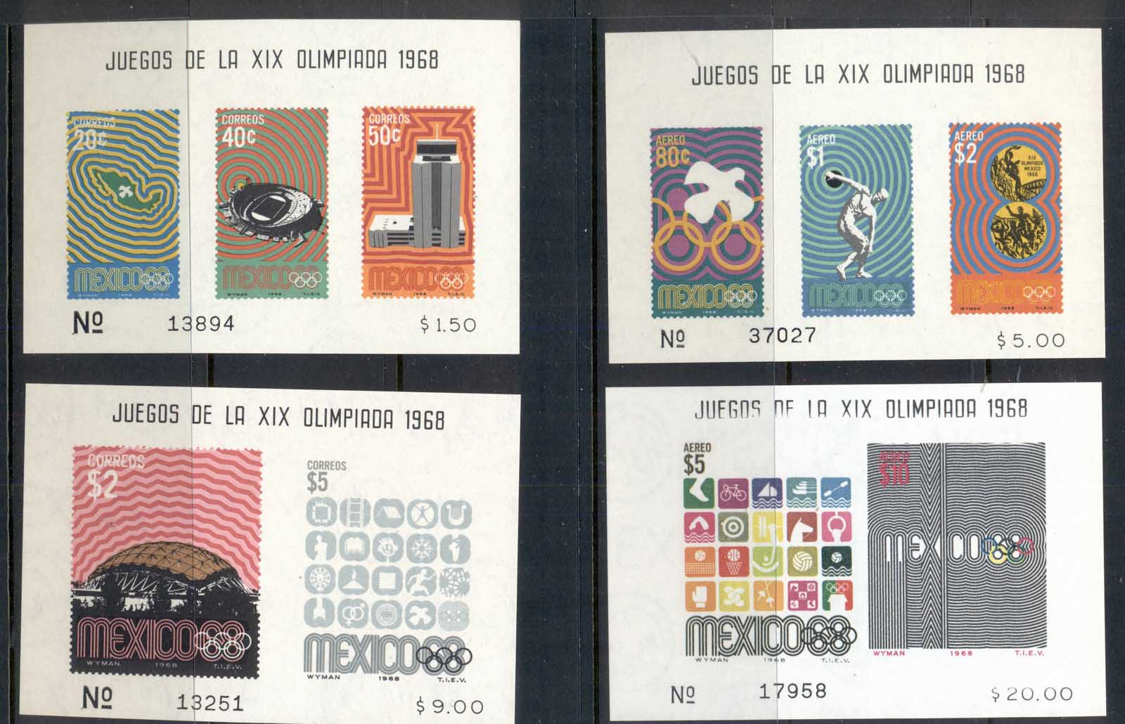 Mexico 1968 Summer Olympics Mexico City 4x MSMuh