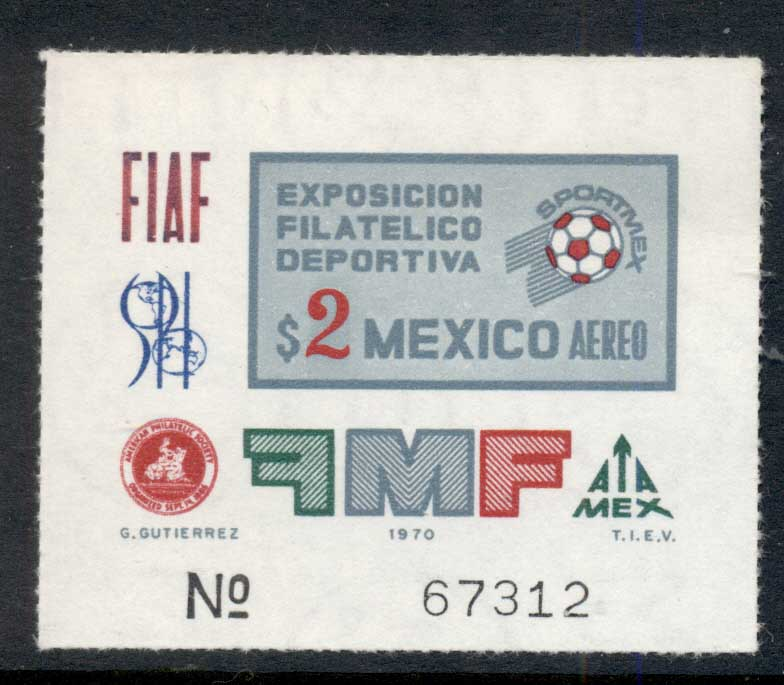 Mexico 1970 Sportmex MS MUH