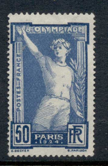 France 1944 8th Olympic Games 50c MNG