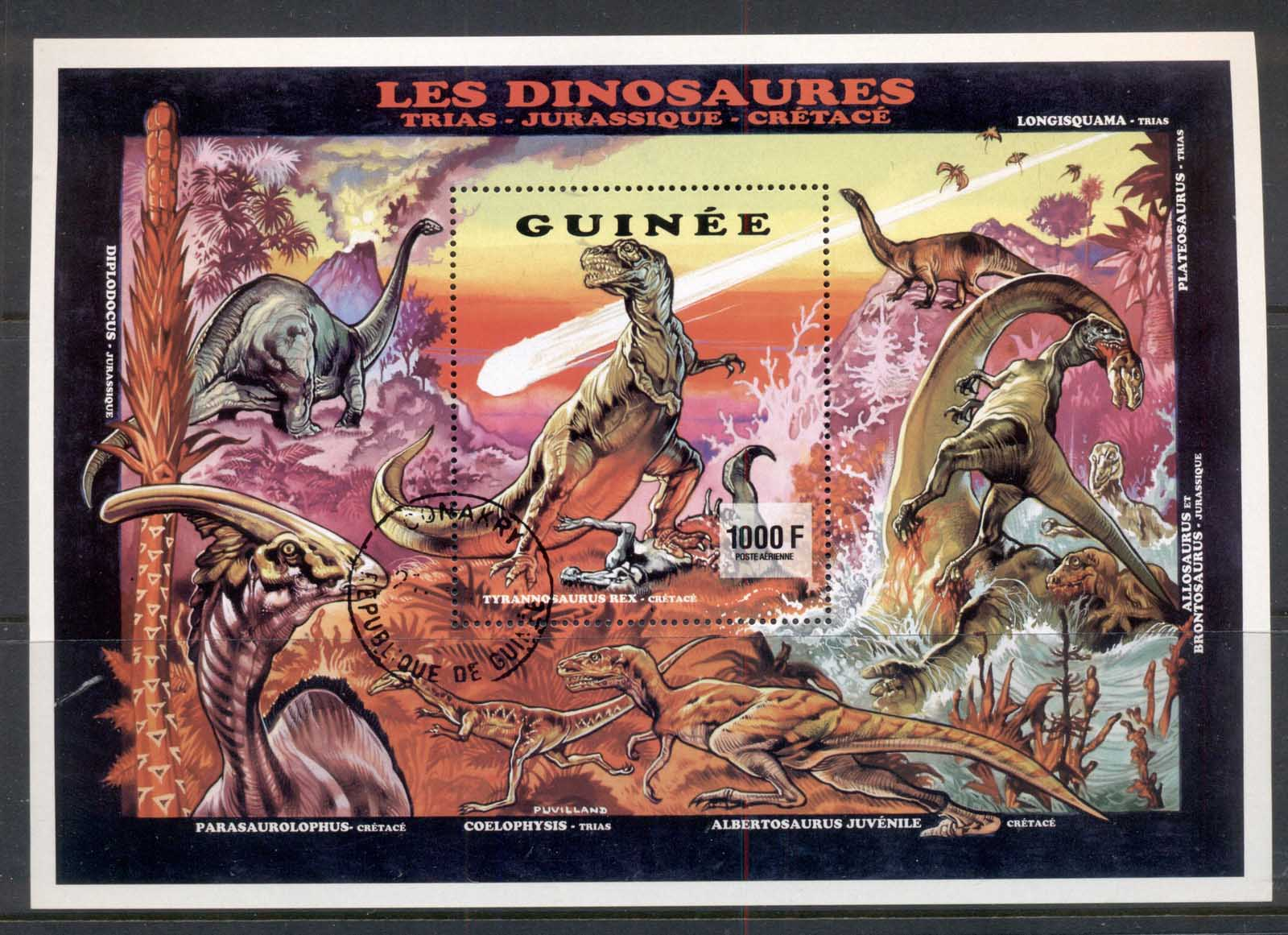Guinea 1993 Dinosaurs MS CTO