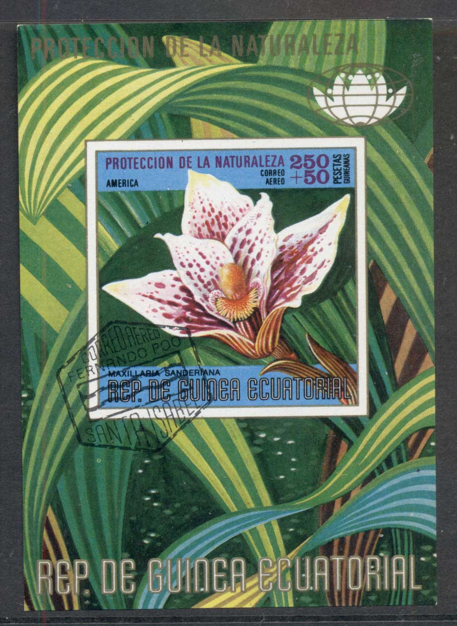 Equatorial Guinea 1974 Flowers MS CTO