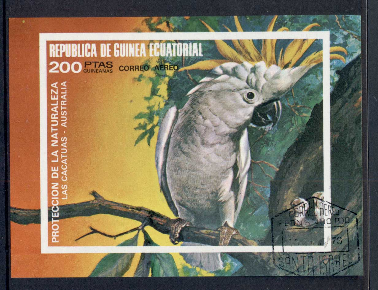 Equatorial Guinea 1973 Birds MS CTO
