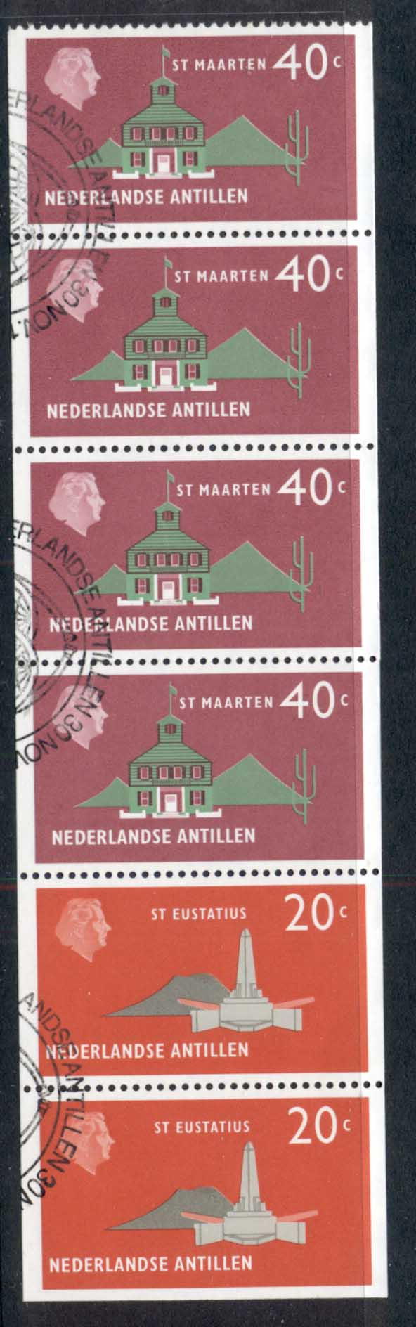 Netherlands Antilles 1977 Building booklet pane 5 FU