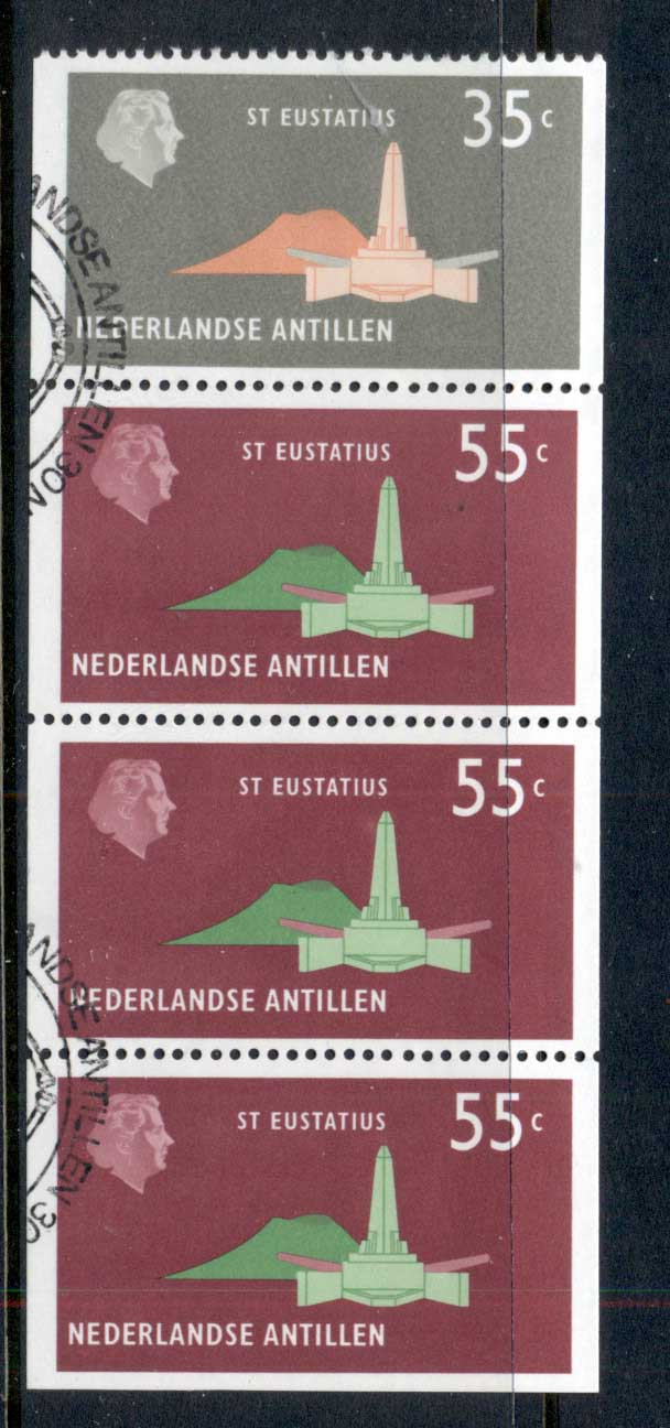 Netherlands Antilles 1977 Building booklet pane 4 FU