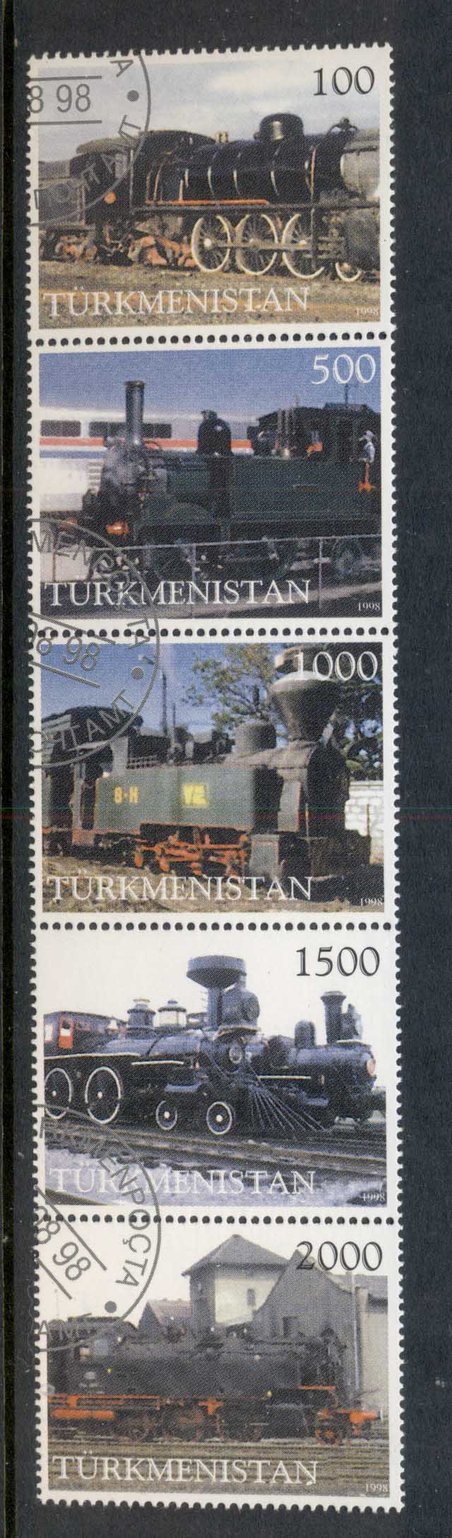 Turkmenistan 1998 Trains str5 CTO