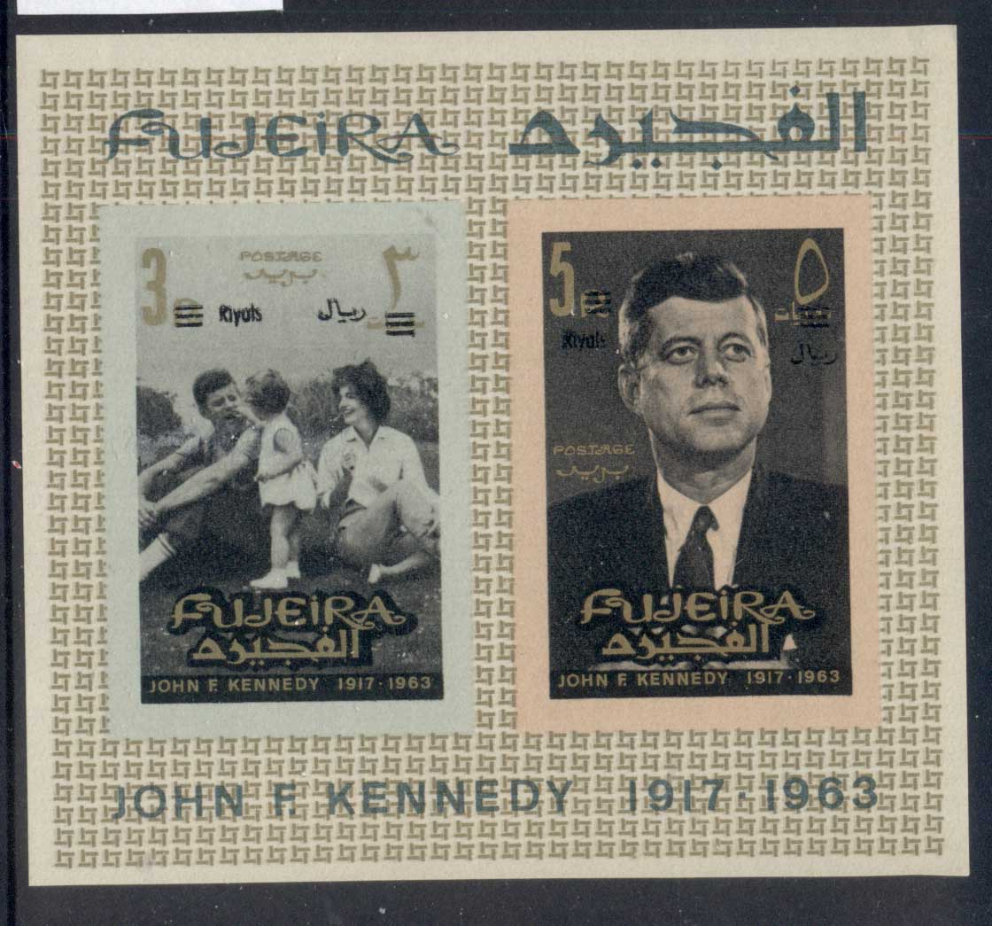 Fujeira 1966 Mi#MS5B JFK Kennedy, Opt New Currency MS IMPERF MUH