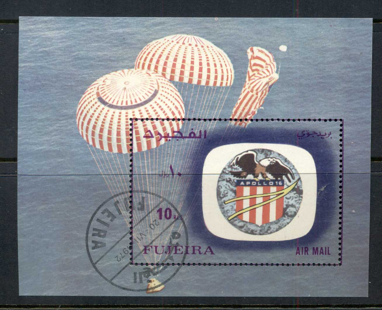 Fujeira 1972 Mi#98A Space Apollo 16 MS CTO