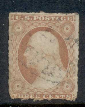 USA 1851-57 Sc#11 3c Washington FU