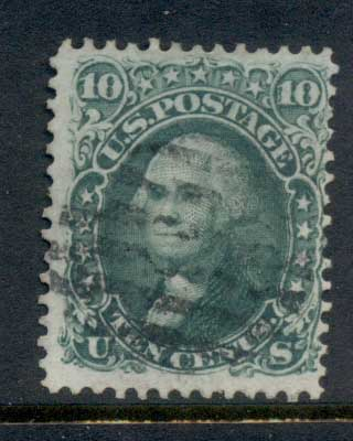 USA 1861-62 Sc#68 10c Washington FU