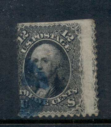 USA 1861-62 Sc#69 12c Washington spacefiller FU