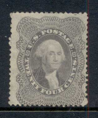 USA 1857-61 Sc#37 24c Washington MNG