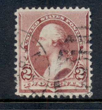 USA 1890-93 Sc#219D Washington 2c Lake FU