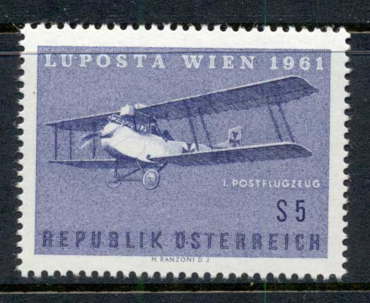 Austria 1961 Airmail Philatelic Exhibition LUFTPOSTA MUH