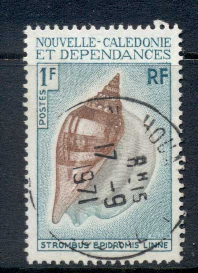 New Caledonia 1970 Shells 1f FU