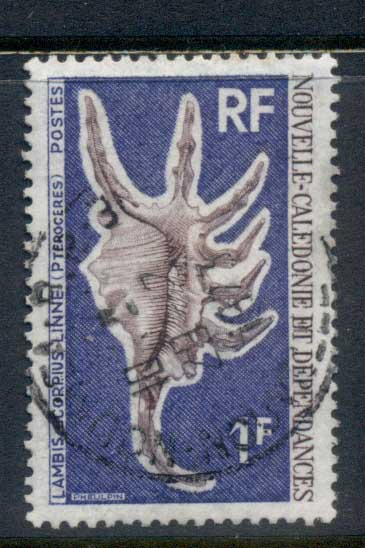 New Caledonia 1972 Seashell 1f FU