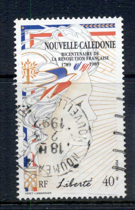 New Caledonia 1989 French revolution Bicent 40f FU