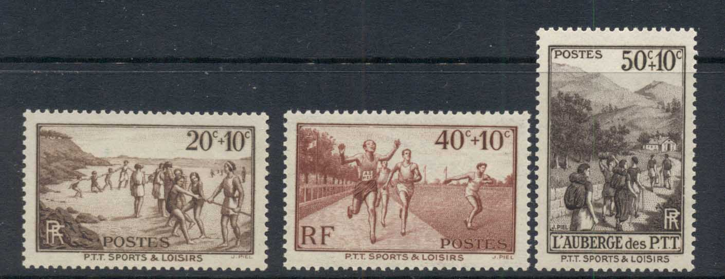 France 1937 Welfare Sports PTT MUH