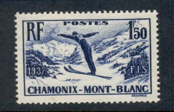 France 1937 Ski Meeting Chamonix- Mont Blanc Muh