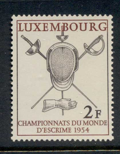 Luxembourg 1954 World Fencing Championships MUH