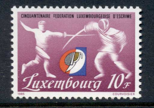 Luxembourg 1985 Fencing Federation MUH