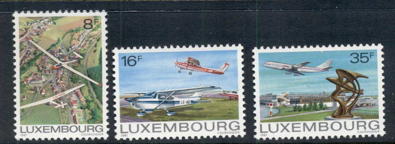 Luxembourg 1981 Gliding MUH