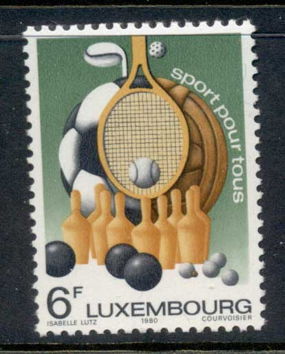 Luxembourg 1980 Sports for All MUH