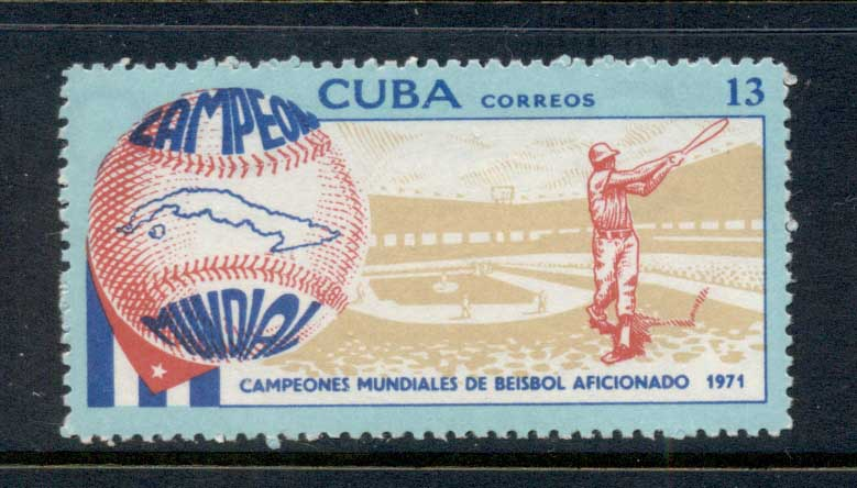 Caribbean Is 1971 Baseball MUH