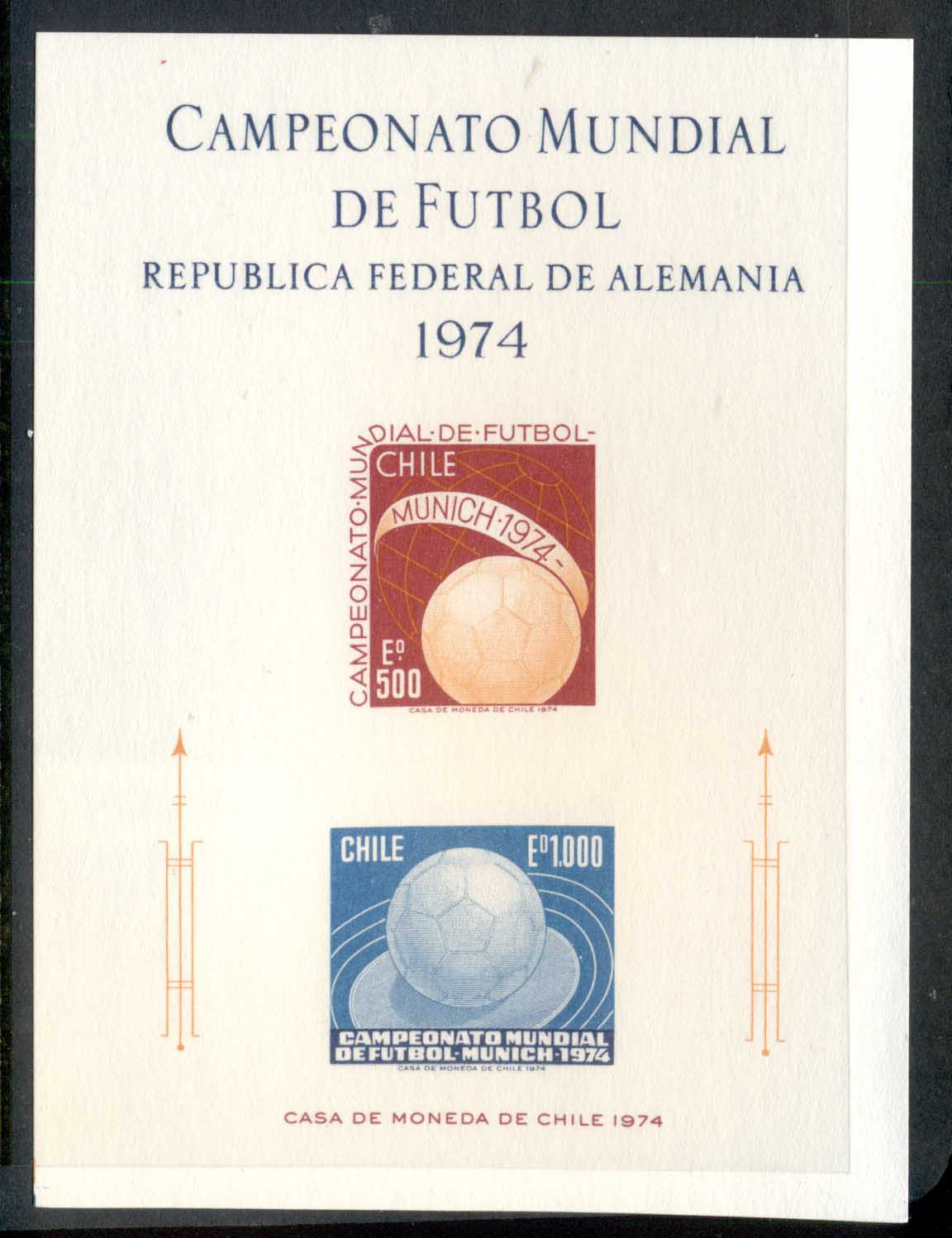 Chile 1974 World Cup Soccer Munich MS MUH