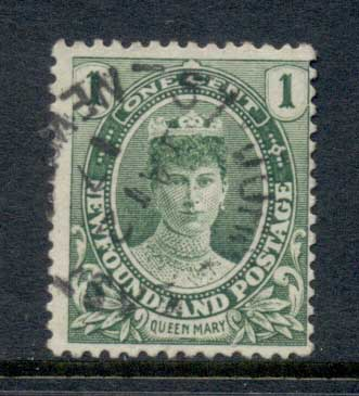 Newfoundland 1911 Royal Family Queen Mary 1c FU
