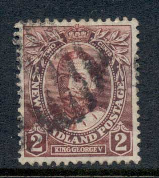 Newfoundland 1911 Royal Family George V 2c FU