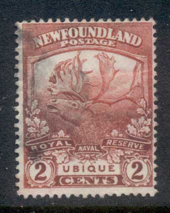 Newfoundland 1919 Trail of the Caribou 2c FU