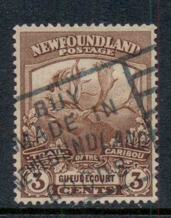 Newfoundland 1919 Trail of the Caribou 3c FU