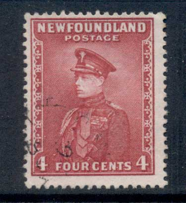 Newfoundland 1932-37 Pictorials 4c rose lake FU
