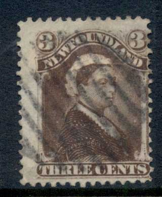 Newfoundland 1880-96 Queen Victoria 3c umber brown FU