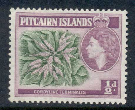 Pitcairn Is 1957 QEII Pictorial Flower 0.5d MLH