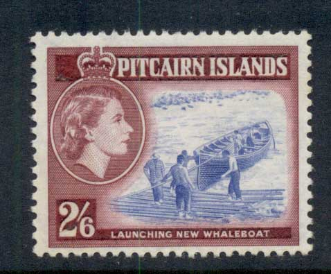 Pitcairn Is 1957 QEII Pictorial Launching New Whaleboat 2/6d MUH