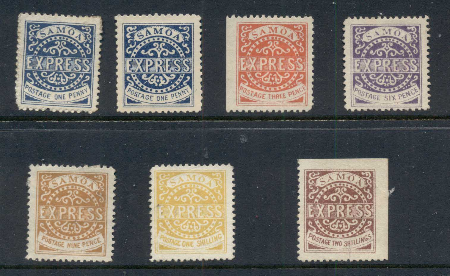 Samoa 1877-82 Samoa Express Reprints MLH/MUH