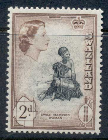 Swaziland 1956 QEII Pictorials Married Woman 2d MLH